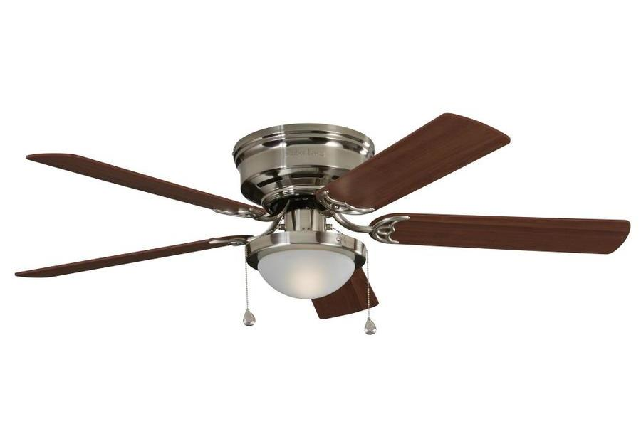 Harbor Breeze Armitage 52-inch brushed nickel indoor ceiling fan with light kit for $40