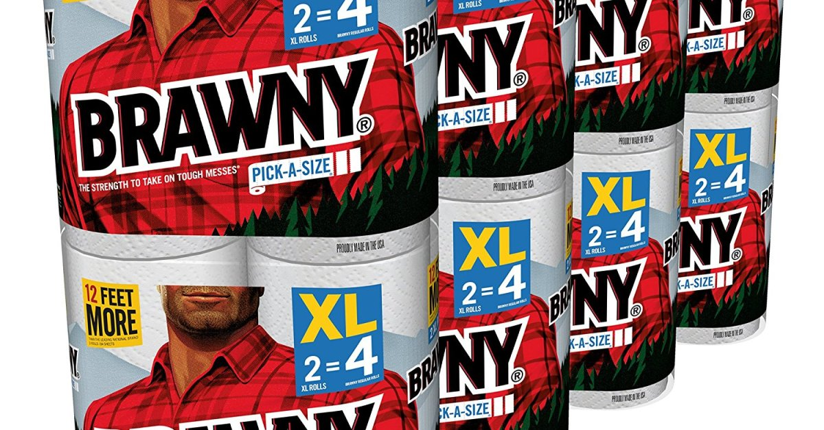 Today only: 16-count XL Brawny pick-a-size paper towels for $20