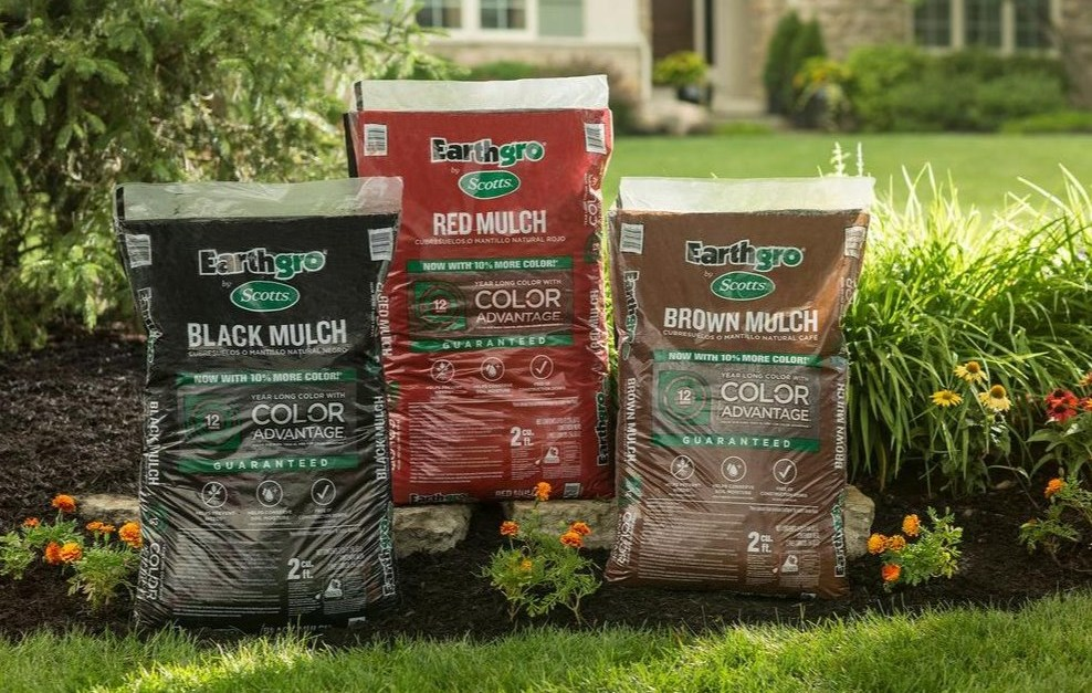 Bags of Scotts Earthgro mulch for $2 each