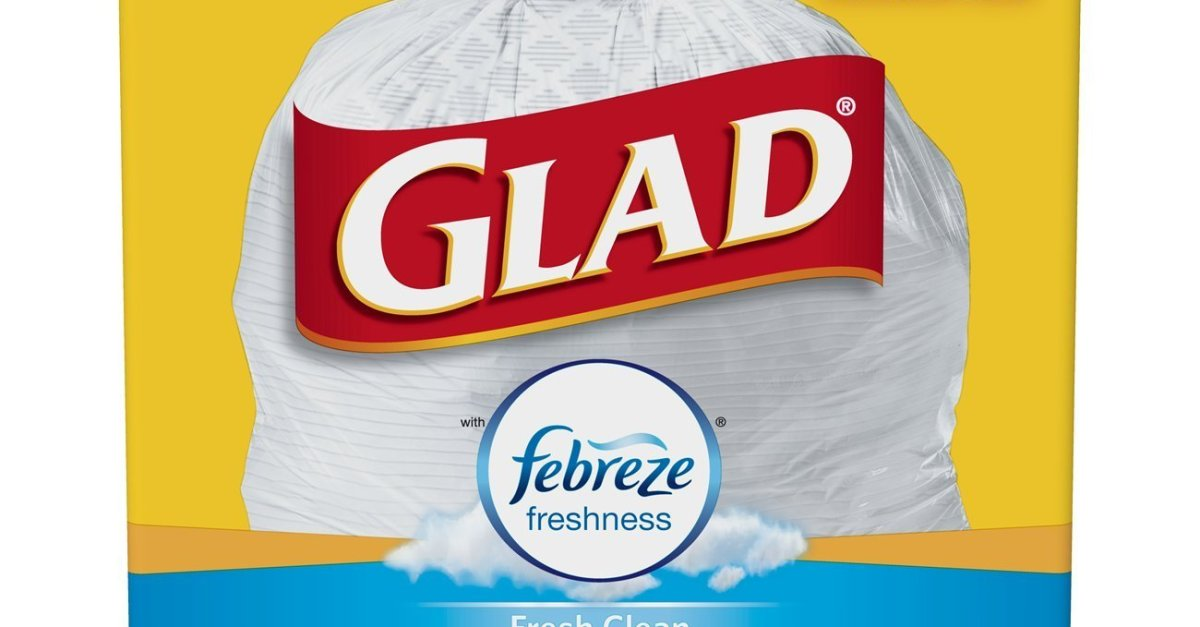 110-count Glad 13-gallon OdorShield tall kitchen drawstring trash bags for $11.59