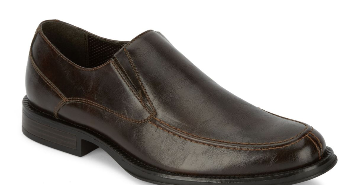 Dockers men's Ramsdell slip-on Oxford shoes in brown for $30, free shipping