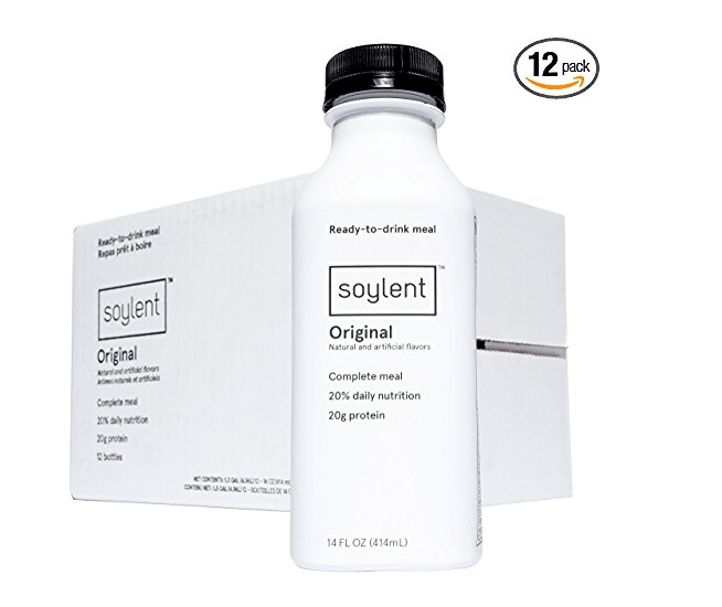 $10 off Soylent: Coupon code gives you 12 bottles for $24 via Amazon