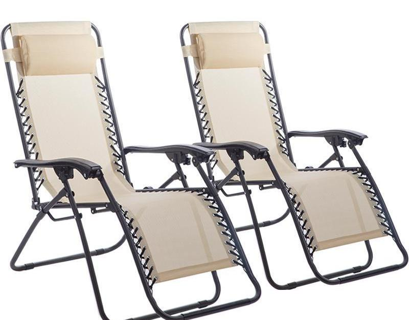 Today only! Two zero gravity recliner chairs for $40 and free shipping