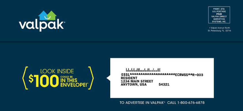 Check your mail: Valpak may be sending you a $100 check!