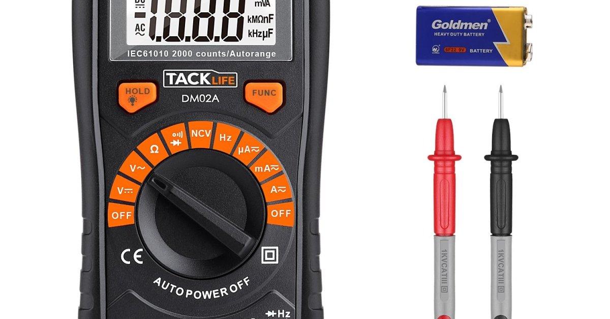 Tacklife DM02A auto-ranging digital multimeter for $8