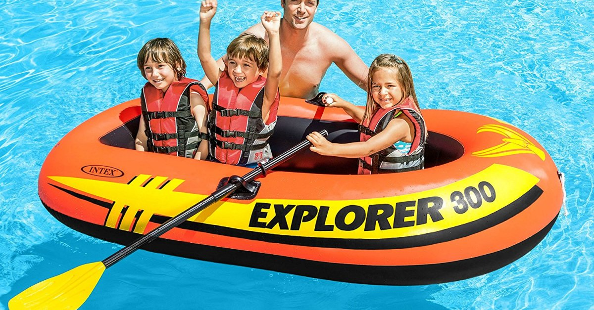 Today only: Intex Explorer 300 3-person inflatable boat set for $20
