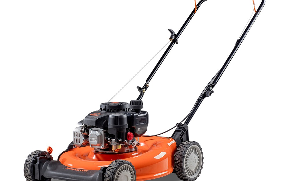 Remington Trail Blazer 21″ push gas mower with side discharge and mulching for $149
