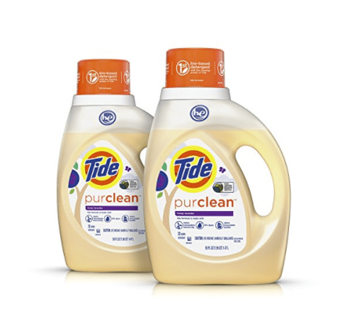 2-count Tide Purclean plant-based laundry detergent for $9