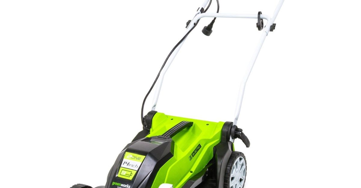 Greenworks corded electric 9 amp 14-inch lawn mower for $89