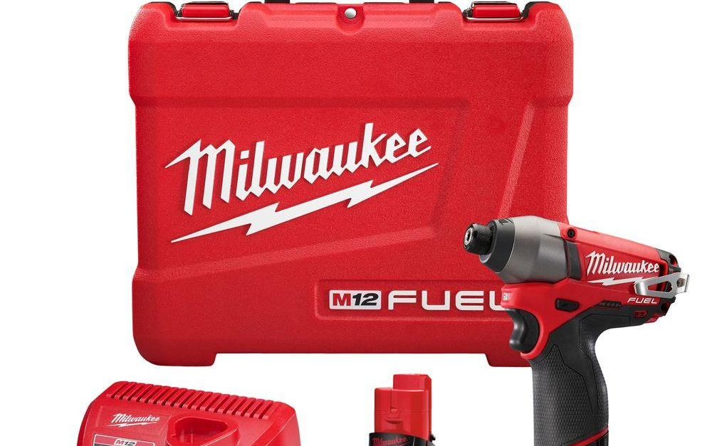 Milwaukee M12 Fuel 12-volt lithium-ion cordless 1/4 inch hex impact driver kit for $99