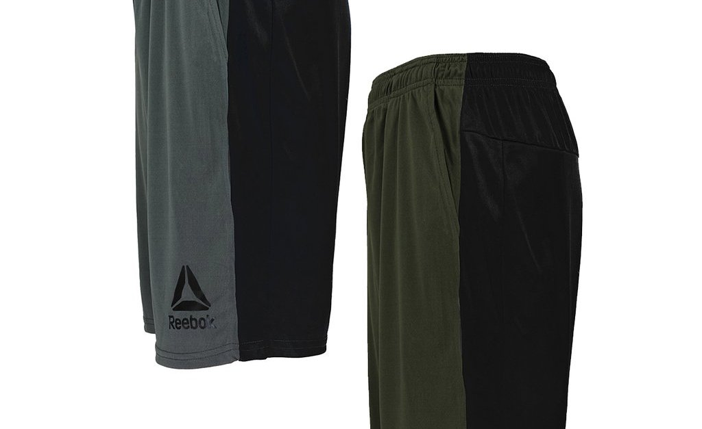 2-pack Reebok men's contrast shorts for $20, free shipping
