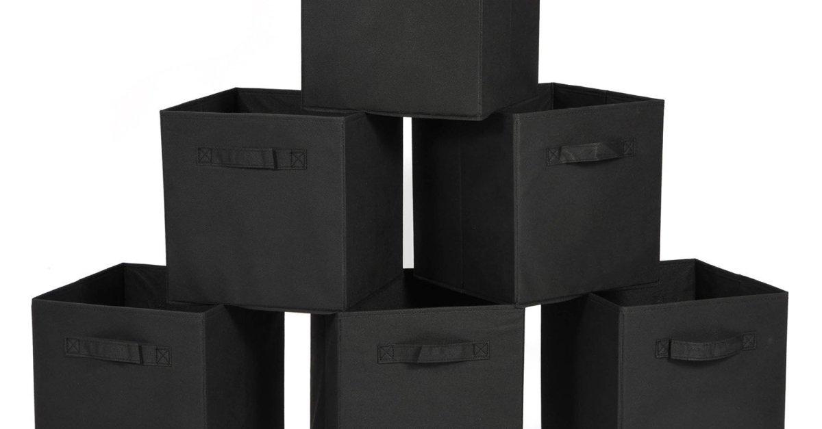 Prime members: 6-pack cloth storage bins for $10