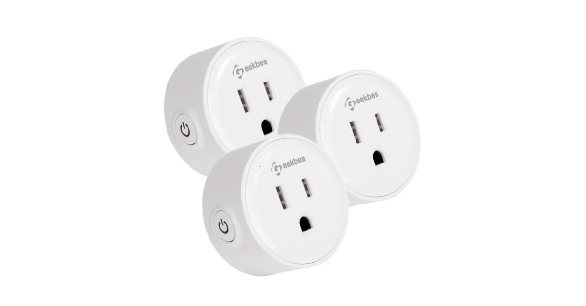 3-pack Geekbes Wi-Fi smart socket plugs for $21