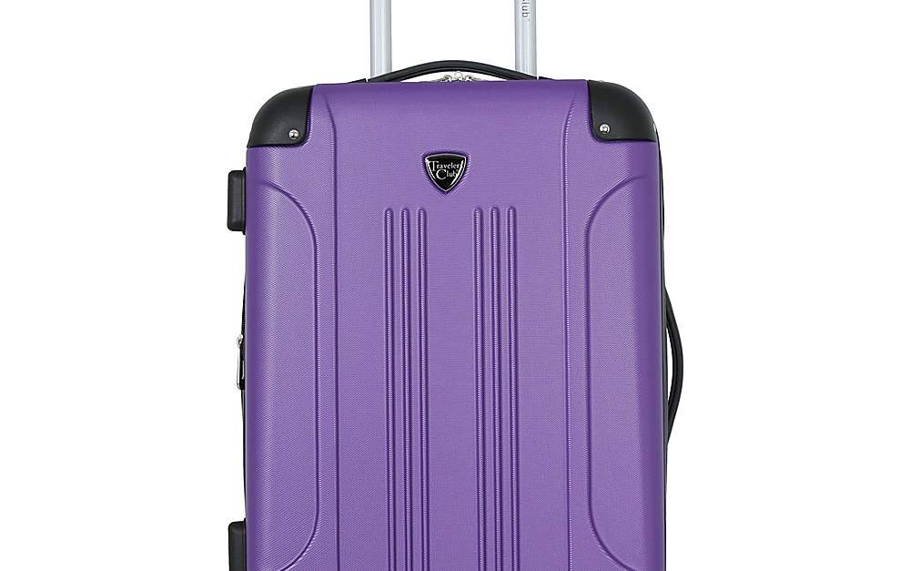 Travelers Club 20″ modern hardside expandable carry-on for $34, free shipping