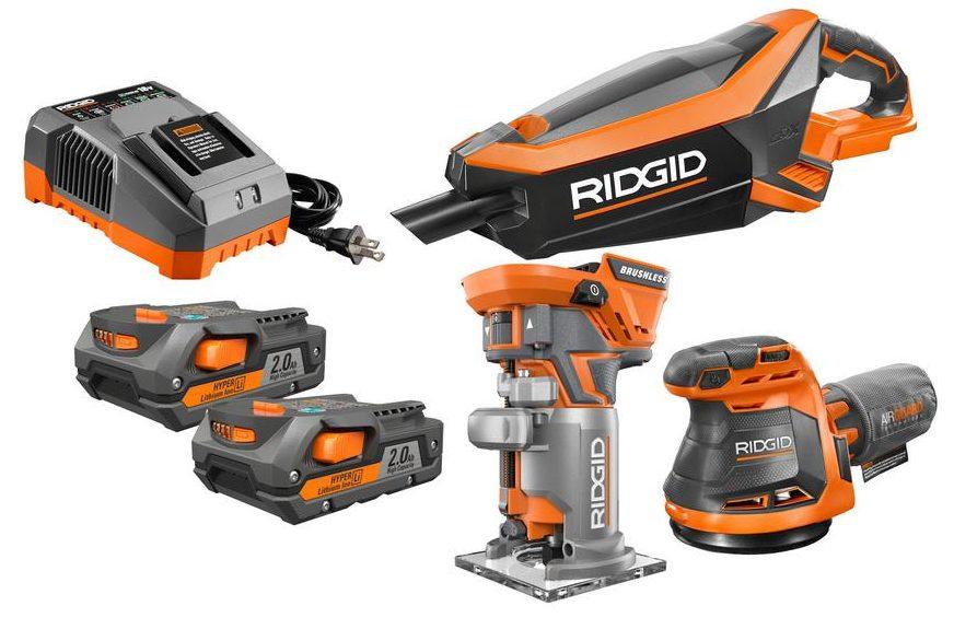 3-tool Ridgid 18-volt GEN5X cordless lithium-ion combo kit for $149