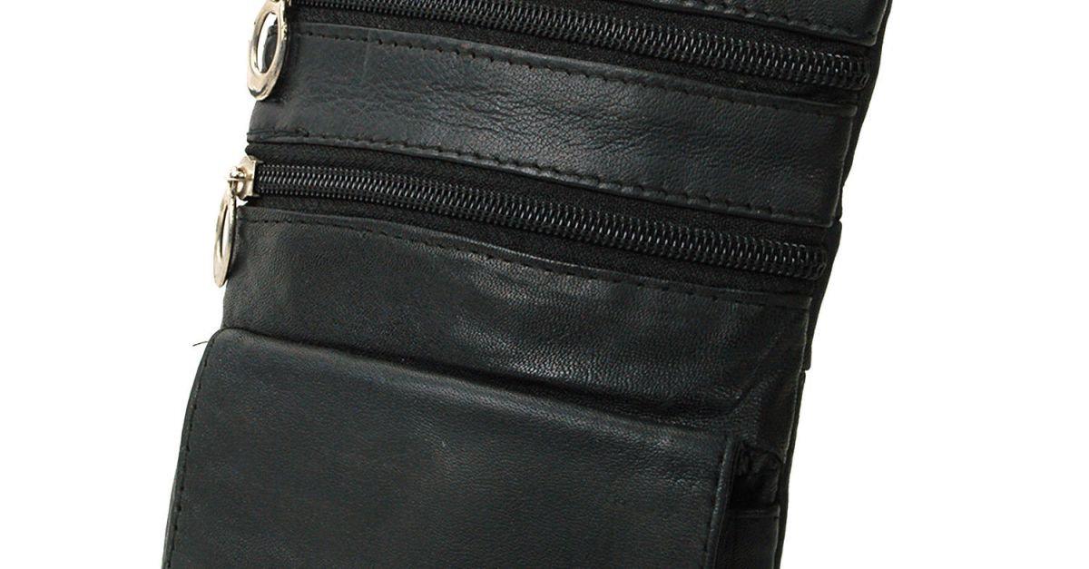 Price drop! Soft leather 4-pocket travel crossbody bag for $5, free shipping