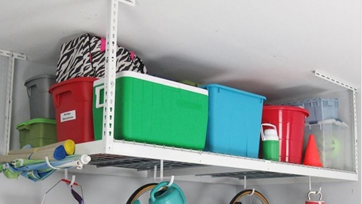 Today only: SafeRacks 4′ x 4′ overhead storage rack for $60