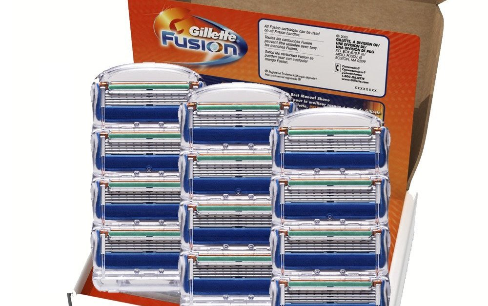 Price drop! 12-pack Gillette Fusion men's razor blade refills for $20