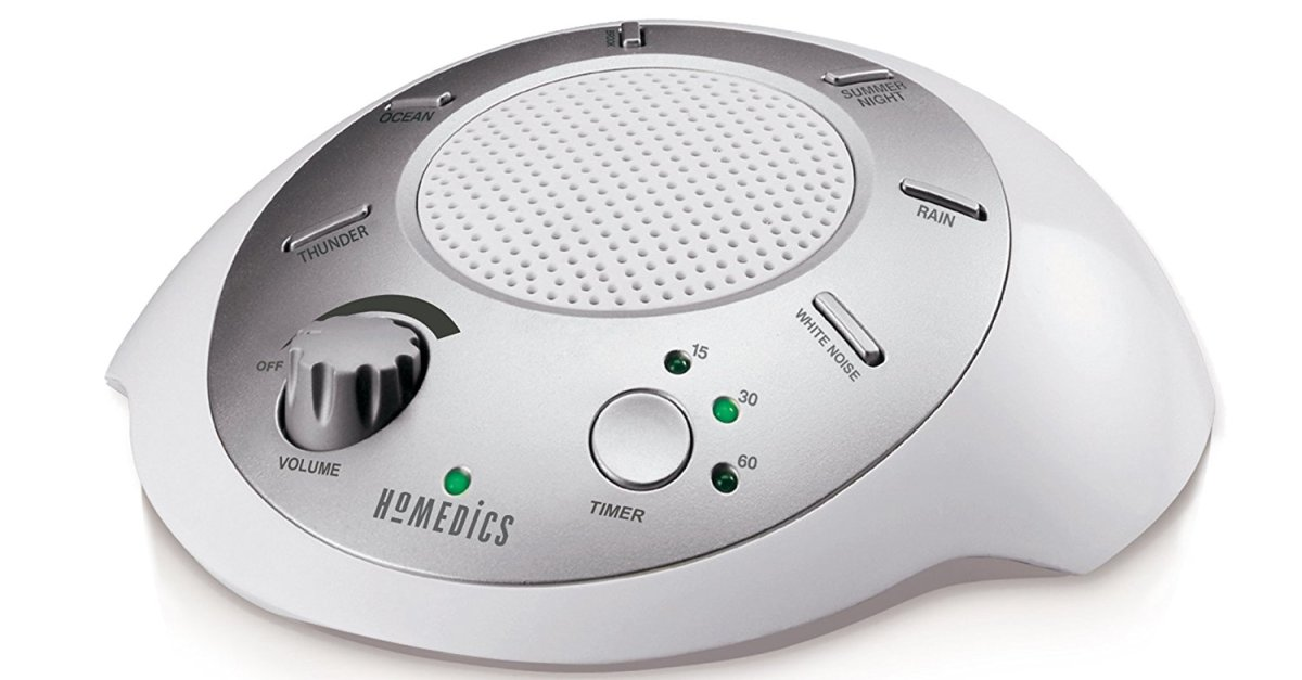 Homedics white noise sound machine for $13
