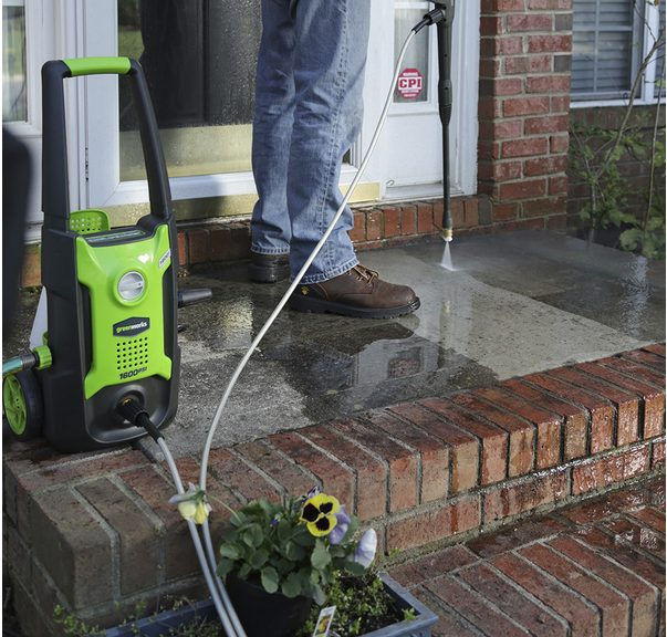 Price drop! Greenworks 1600-PSI 1.2-gallon electric pressure washer for $69 today only