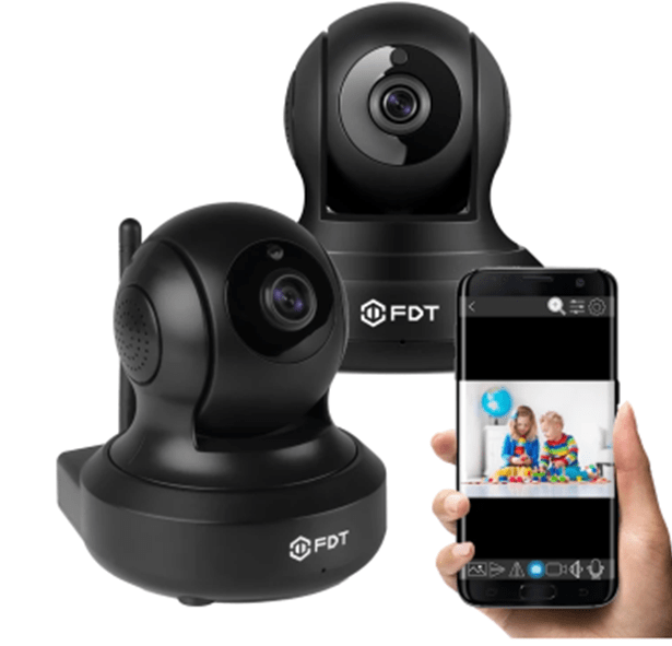 2-pack FDT 1080P pan/tilt Wi-Fi cameras for $79