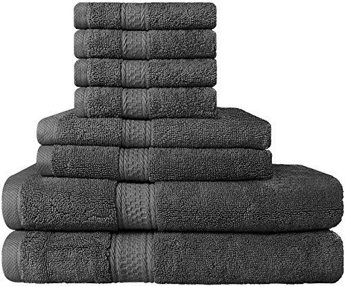 8-piece 100% cotton towel set for $26