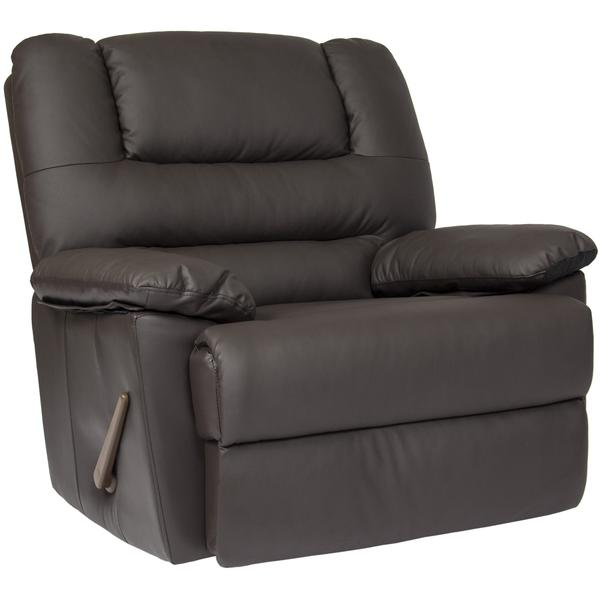 Best Choice Products deluxe padded leather rocking recliner chair for $225