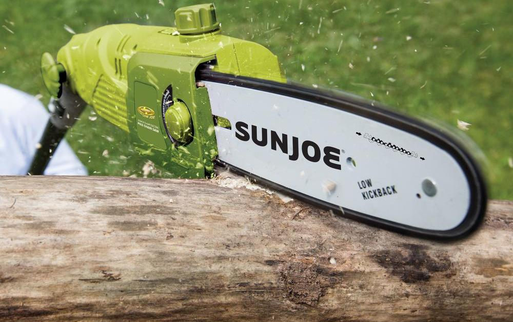Sun Joe 10-inch 8-amp electric pole chainsaw for $61