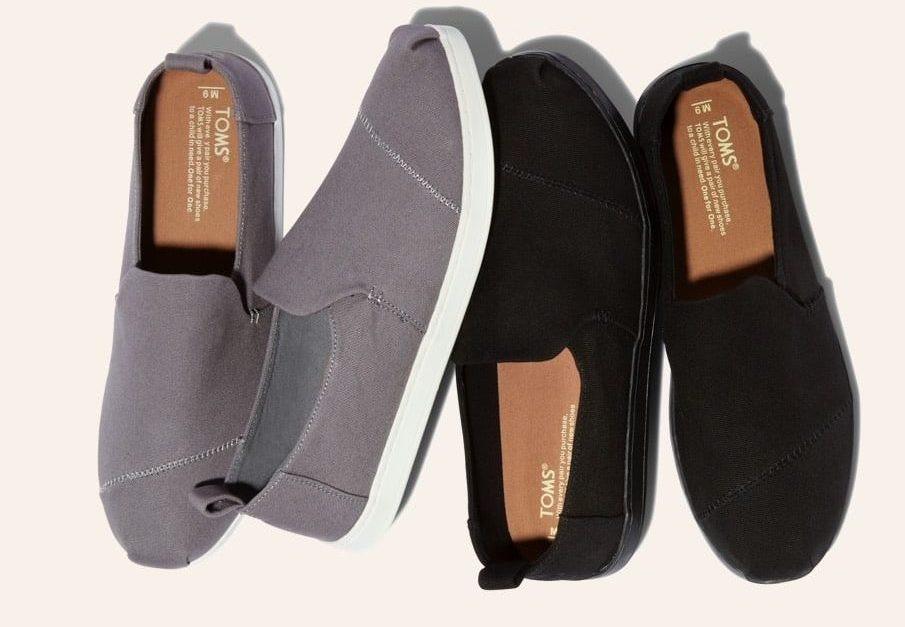 Ends soon! Save up to 50% at Toms plus free shipping