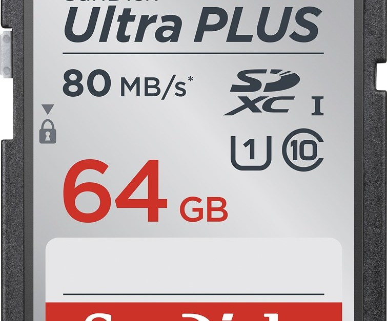 SanDisk Ultra Plus 64GB memory card for $20