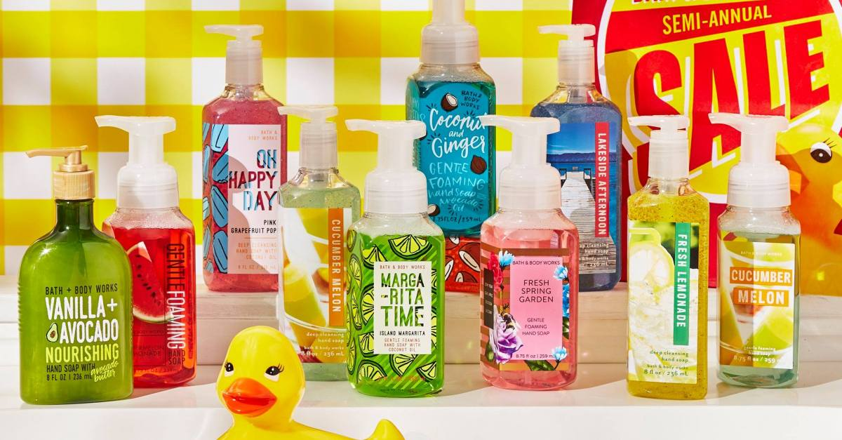 Get $10 off your $30 purchase at Bath & Body Works