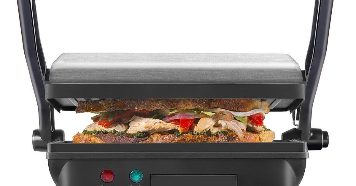 Chefman panini press grill & gourmet sandwich maker for $16