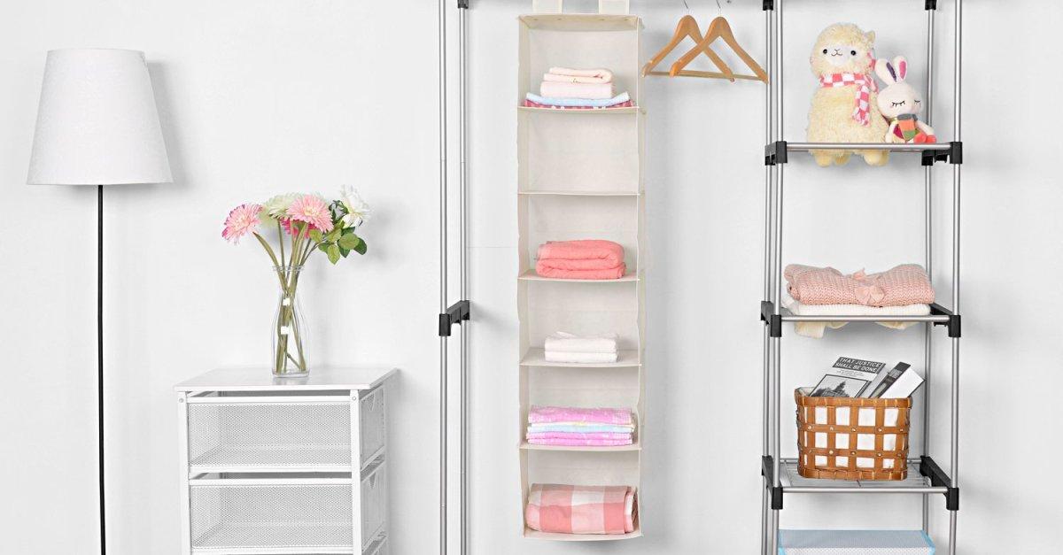MaidMax 6-tier hanging closet shelves closet organizer for $7 with code