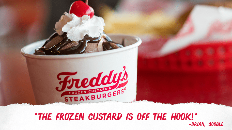 Freddy's Frozen Custard: Get frozen custard for $1 TODAY!
