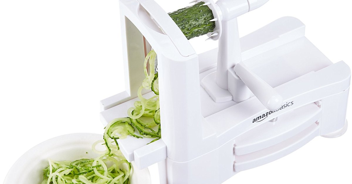 AmazonBasics 3-blade spiralizer for $6 as add-on item