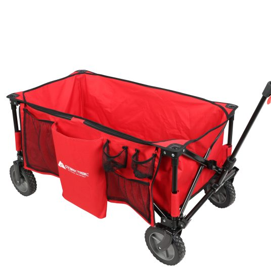 Folding sport wagon with removable bed for $40