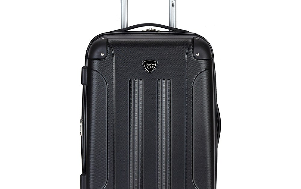 Travelers Club Chicago 20″  hardside carry-on luggage for $40, free shipping