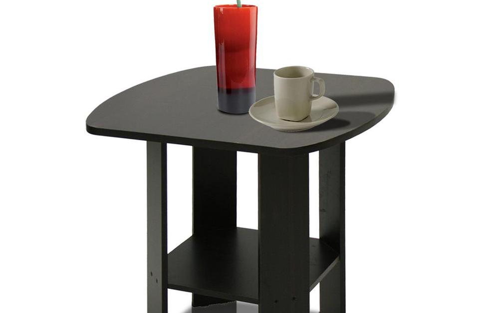 Furinno simple design set of two espresso end tables for $28
