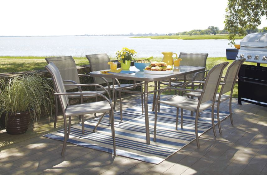 7 piece outdoor table set for 102 at lowes home improvement - Lowes Patio Table