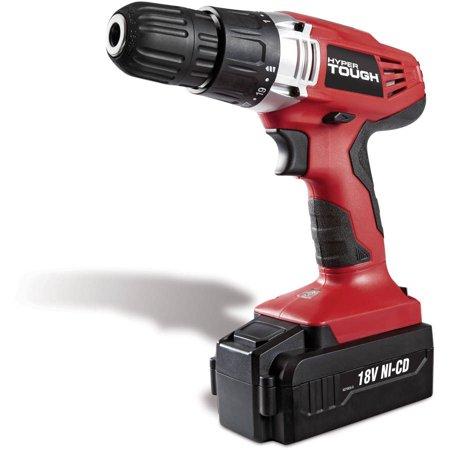 Hyper Tough 18-volt Ni-Cad cordless drill for $17