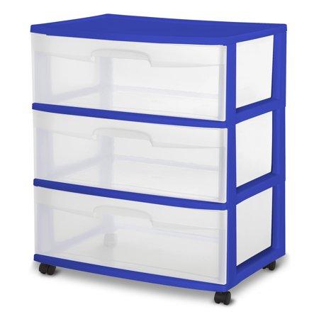 Sterilite 3-drawer wide cart for $13