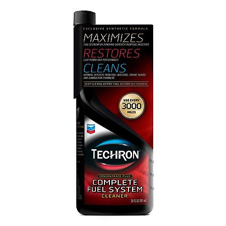 Save on Chevron Techron complete fuel system cleaner