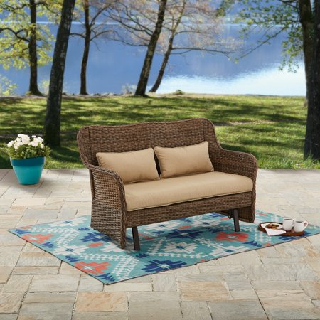Price drop! Better Homes and Gardens Camrose farmhouse outdoor wicker glider bench for $120