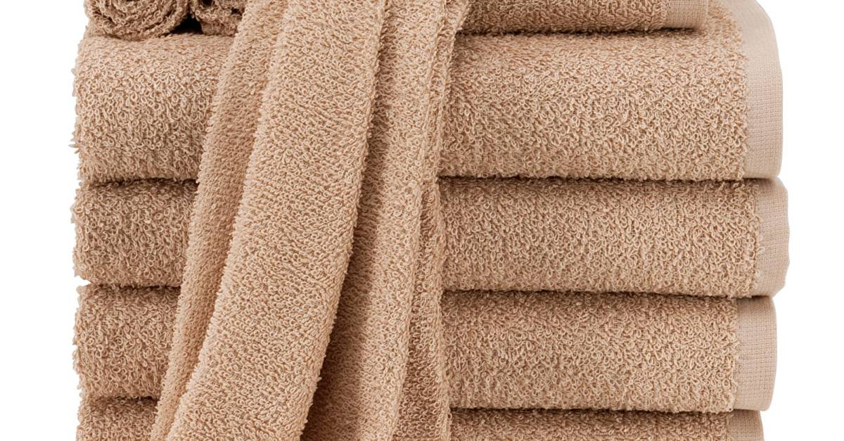 Mainstays 10-piece value towel set from $11