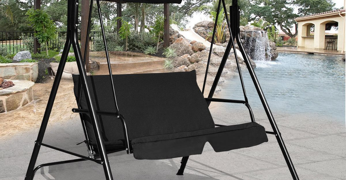 Costway loveseat patio canopy swing for $70