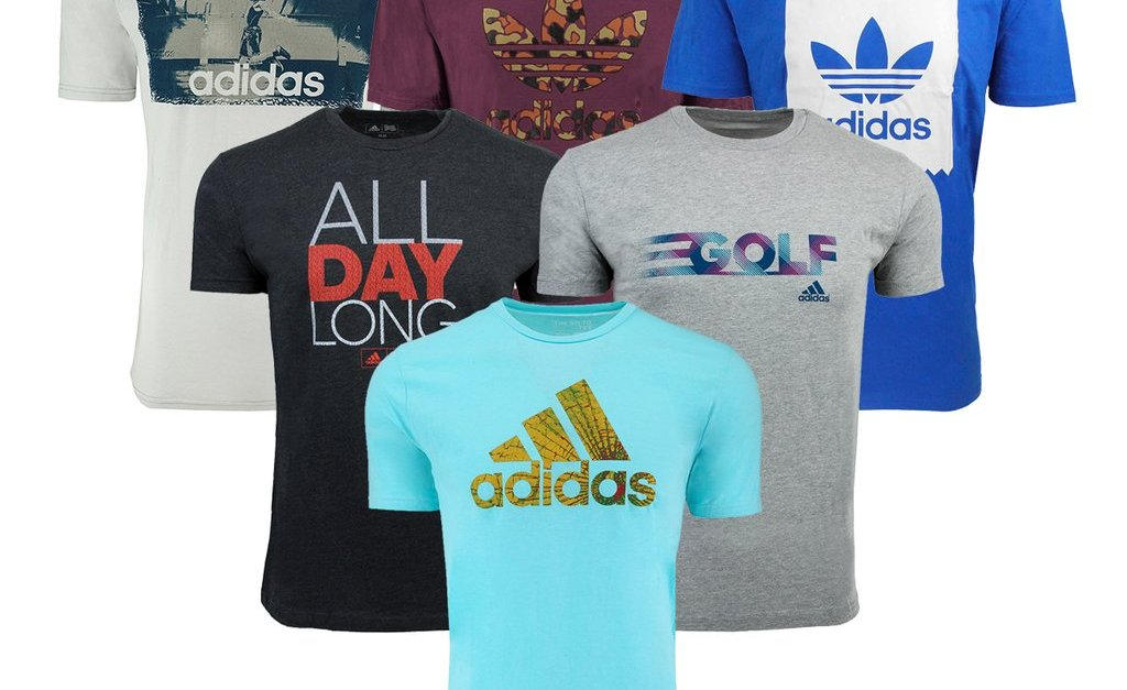 3-pack Adidas men's mystery t-shirts for $27