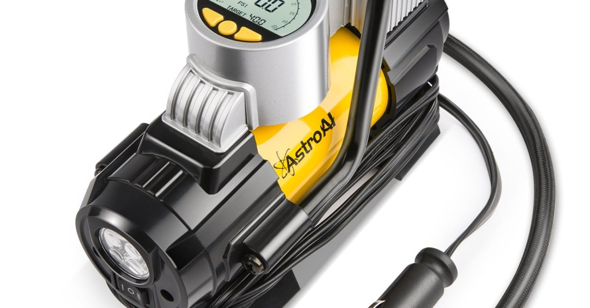 AstroAl 150 PSI portable air compressor and digital tire inflator for $35
