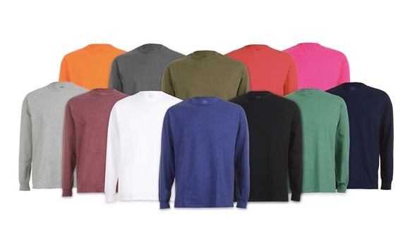Today only: 6-pack FOTL men's long sleeve tees for $25