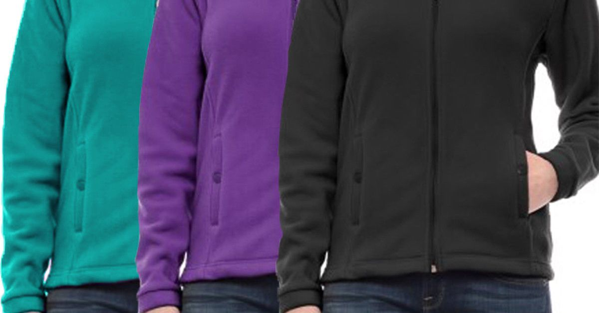Women's full zip fleece jacket for $14, free shipping