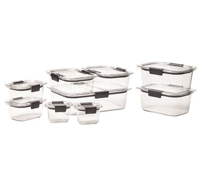 18-piece Rubbermaid Brilliance food storage set for $20